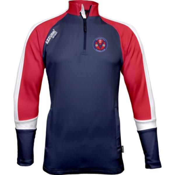 Picture of Ormonde Villa FC Bandon Half Zip Navy-Red-White