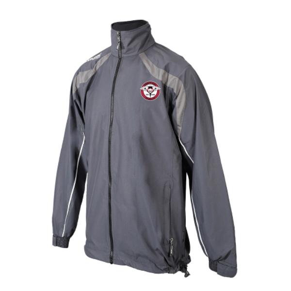 Picture of Rosbercon United FC Brosna Rain Jacket Kids Gunmetal Grey-Slate Grey-White