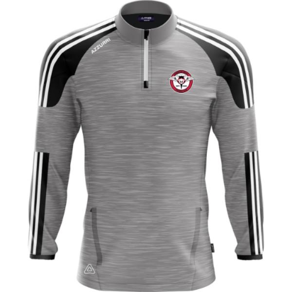 Picture of Rosbercon United FC Brooklyn Half Zip Grey Melange-Black-White