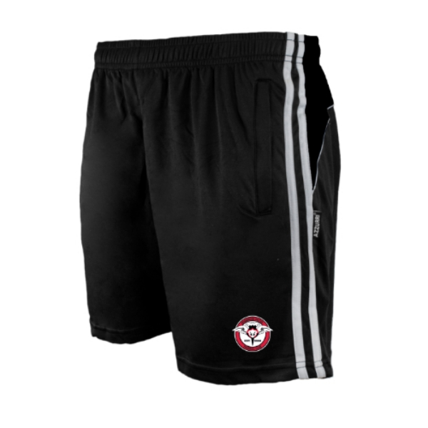 Picture of Rosbercon United FC Kids Leisure Shorts Black-Black-White