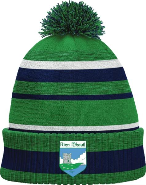 Picture of Renvyle GAA Bobble Hat Emerald Melange-Navy-White