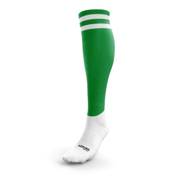 Picture of Renvyle GAA Kids 2 Stripe Full Sock Emerald-White