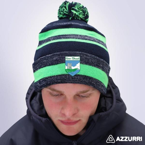 Picture of Renvyle GAA Neon Bobble Hat Navy Melange-Neon Green-Navy