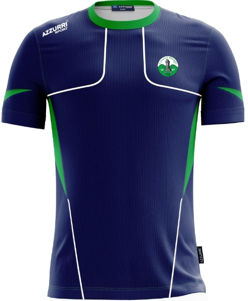 Picture of Kinnity Camogie Club Kids Carragh Tee Navy-Emerald-White