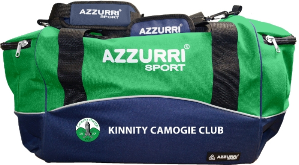 Picture of Kinnity Camogie Club Kitbag Navy-Emerald-White
