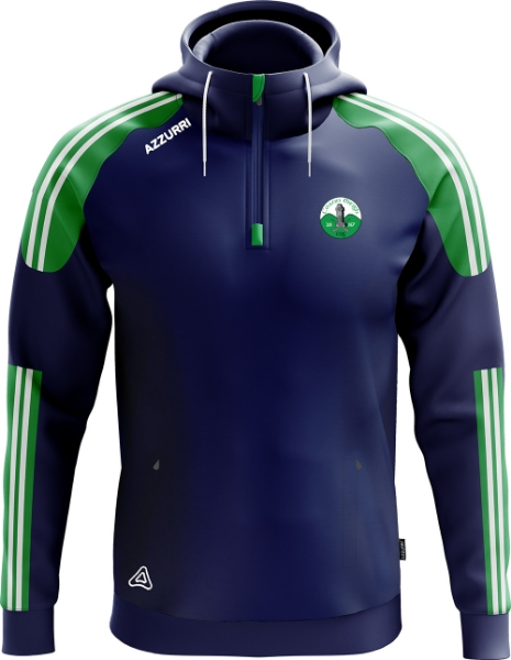 Picture of Kinnity Camogie Club Brooklyn Half Zip Navy-Emerald-White